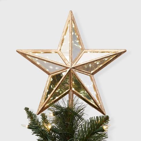 Lit Star Christmas Tree Topper Gold - Wondershop™ - image 1 of 2