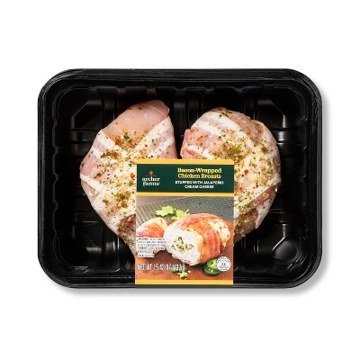 Bacon Wrapped Jalapeno Stuffed Chicken Breast Meal Kit - 15.43oz - Serves 2 - Archer Farms™