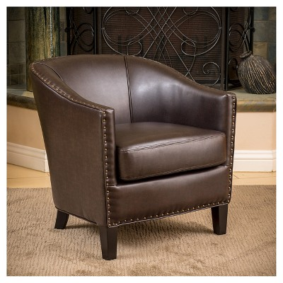 Perfect Austin Bonded Leather Club Chair   Brown   Christopher Knight Home : Target