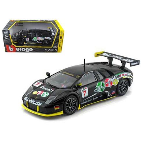 Lamborghini Murcielago Fia Gt 7 Black 1 24 Diecast Car Model By