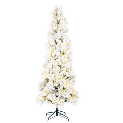 Vickerman Flocked Atka Pine Artificial Christmas Tree