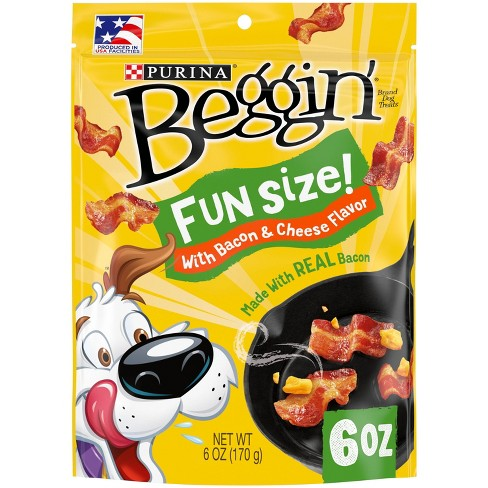 Purina Beggin Fun Size with Bacon & Cheese Dog Treats - image 1 of 4