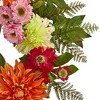 """20"""" Artificial Dahlia and Greenery Wreath - Nearly Natural - image 3 of 3"""