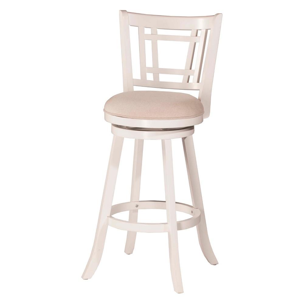25 Fairfox Swivel Counter Stool White/Ecru - Hillsdale Furniture