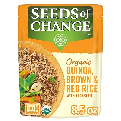 Seeds of Change Organic Quinoa, Brown & Red Rice with Flaxseed Mix Microwavable Pouch - 8.5oz