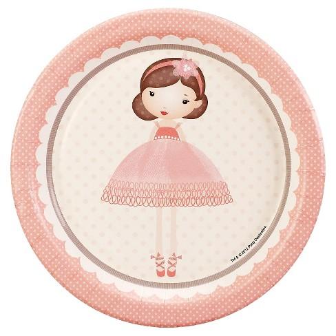 8ct Ballerina Tutu Dessert Plate - image 1 of 1