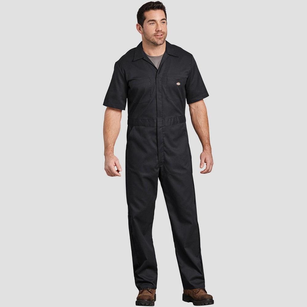 Dickies Men's Tall Straight Fit Overalls - Black Xlt