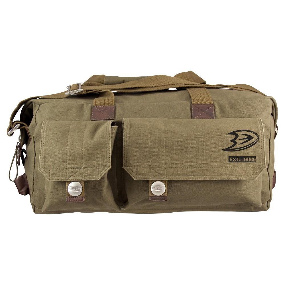 Anaheim Ducks Little Earth Large Prospect Weekender Bag, Olive Drab