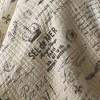 Gray&Cream Reversible Script Quilt Set 3 Piece - homthreads™ - image 4 of 4