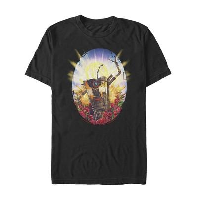 Men's Borderlands 3 Floral Claptrap Robot T-Shirt