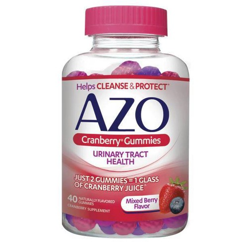 AZO Cranberry Gummies for Urinary Tract Health to Cleanse + Protect - 40ct - image 1 of 4