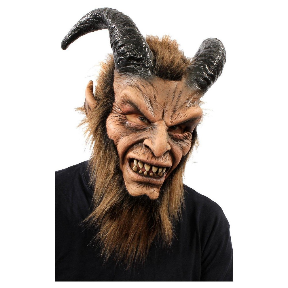 Image of Beautiful Beast Full Mask with Horns & Faux Fur