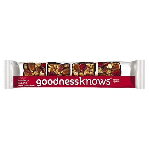 GoodnessKnows Cranberry Almond Dark Chocolate 4 ct - image 1 of 1