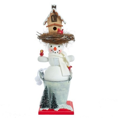 "Kurt Adler 15.5"" Hollywood Snowman Birdhouse Hat Nutcracker"
