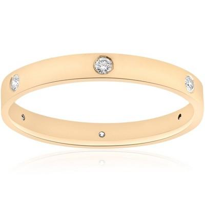 Pompeii3 14k Yellow Gold Diamond Eternity Wedding Anniversary Ring Womens Polished Band