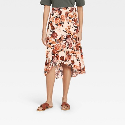 Women's Floral Print Maxi Wrap Skirt - Knox Rose™