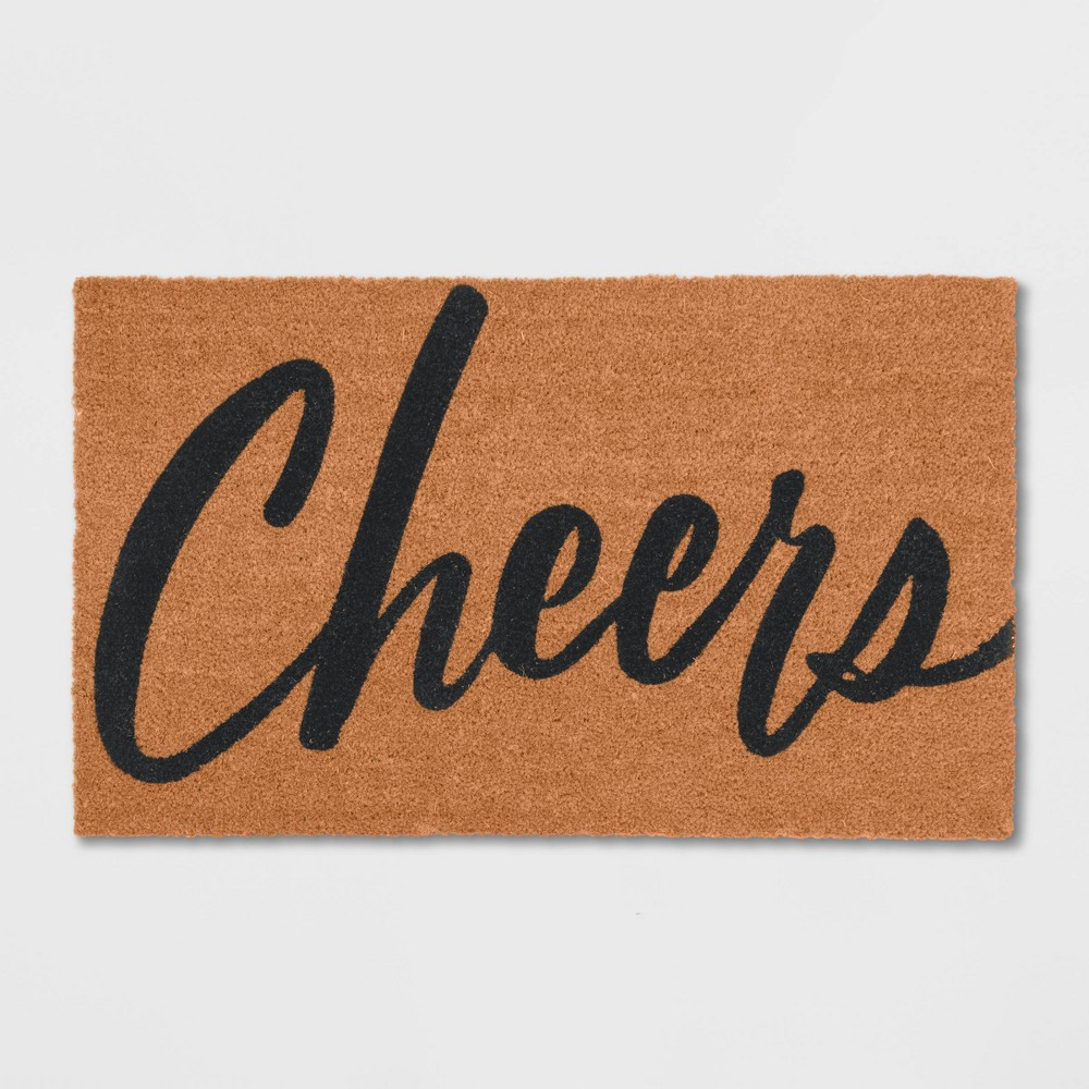 Cheers Coir Doormat Tan/Black