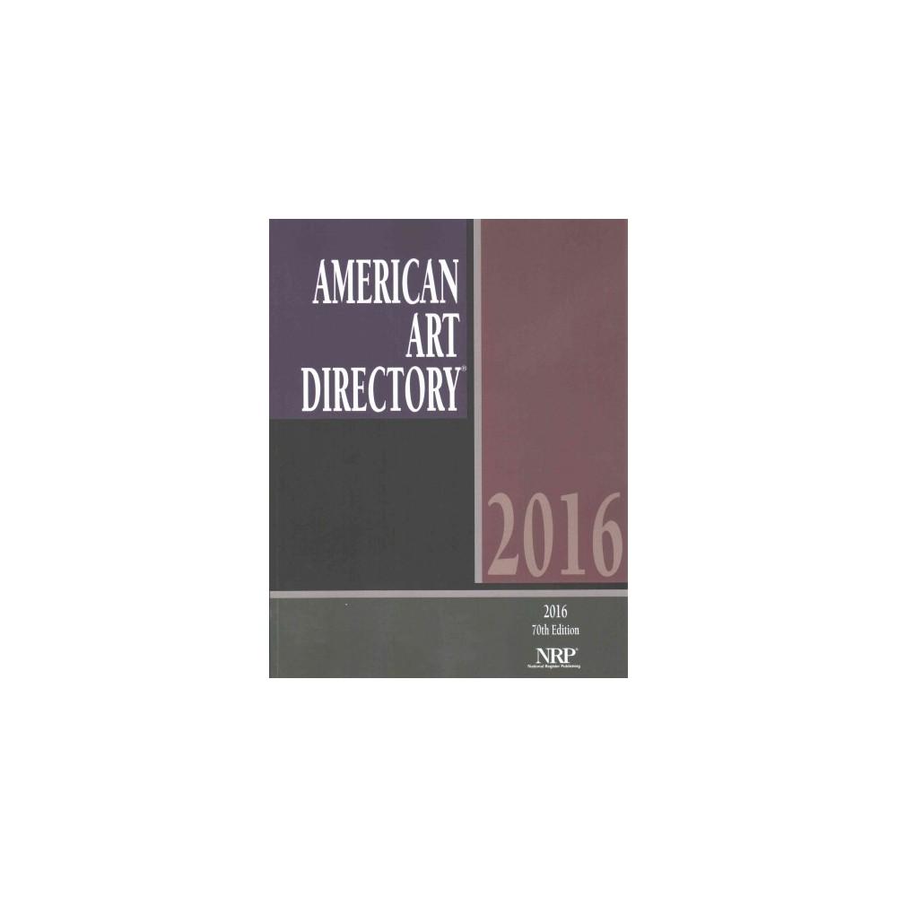 American Art Directory 2016 (Paperback)