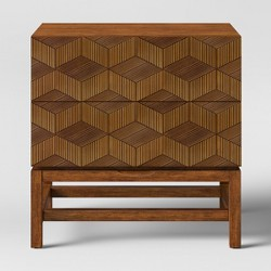 Tachuri Geometric Front Nightstand Brown - Opalhouse™