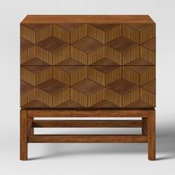 Tachuri Geometric Front Nightstand Brown - Opalhouse™