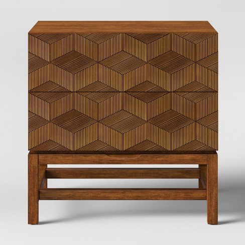 Tachuri Geometric Front Nightstand Brown - Opalhouse™ - image 1 of 8