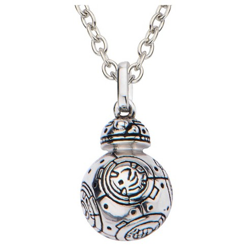 Women S Star Wars Episode Vii Bb 8 925 Sterling Silver Pendant With Chain 18