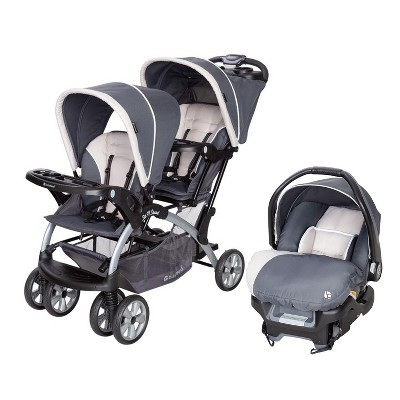 Baby Trend Sit N Stand Travel Double Baby Stroller and Car Seat Combo