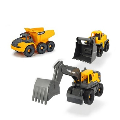 """Dickie Toys 10"""" Volvo Construction Truck - 3 pk"""
