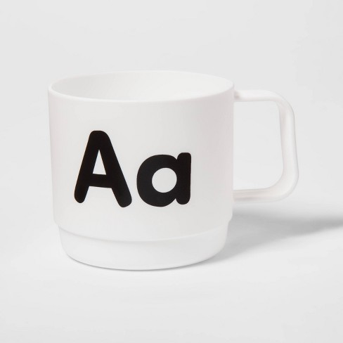 8oz Plastic Kids Monogram Mug - Pillowfort™ - image 1 of 1