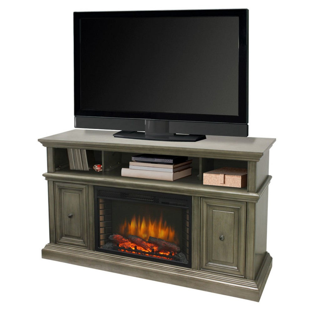 "Image of ""McCrea 58"""" Media Electric Fireplace Dark Gray - Muskoka"""