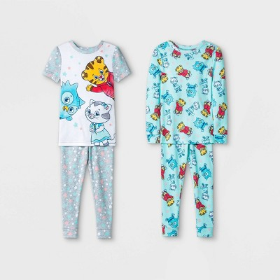 Toddler Girls' 4pc Daniel Tiger Snug Fit Pajama Set - Gray