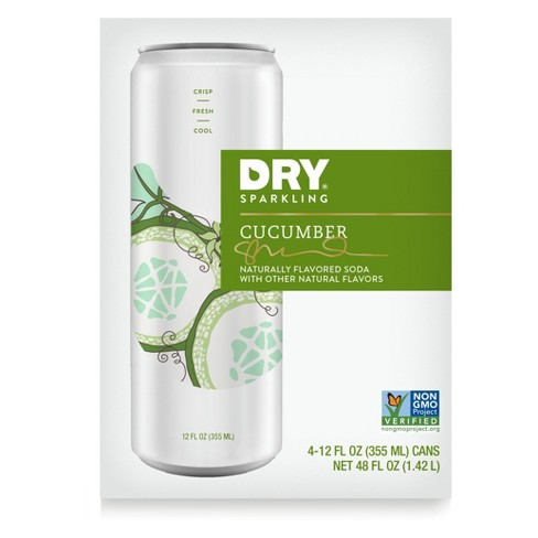 DRY Sparkling Soda Cucumber - 4pk 12 fl oz Cans - image 1 of 3