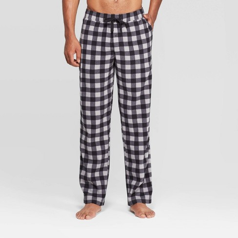 Men's Checked Microfleece Pajama Pants - Goodfellow & Co™ Cement - image 1 of 2