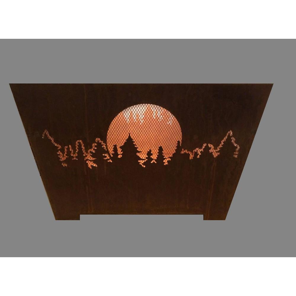Image of Laser Cut Forest and Moon Basket Copper - Esschert Design