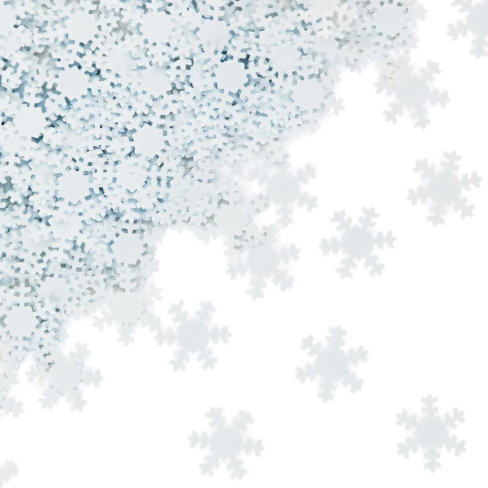 Snowflake Confetti White, Confetti