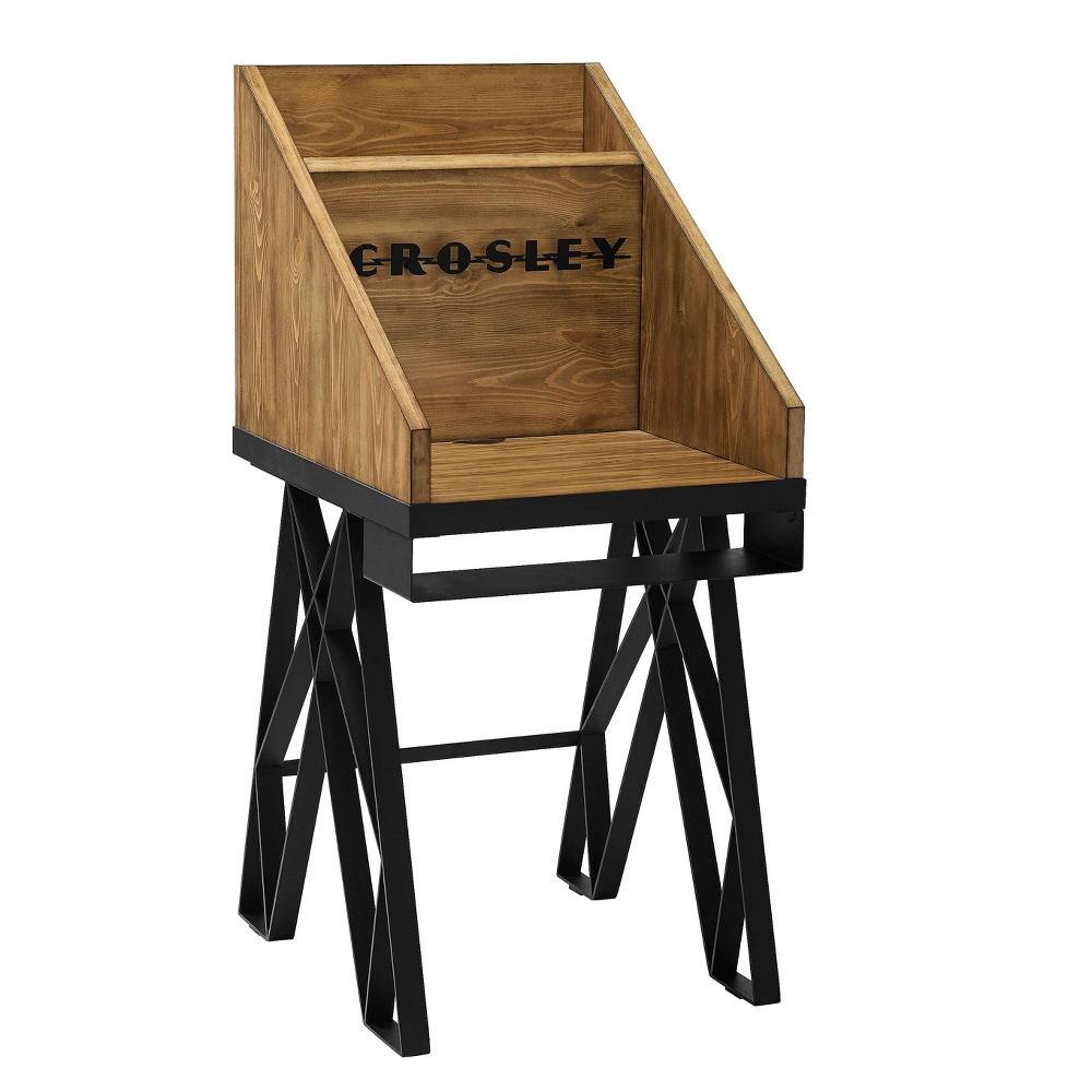 Brooklyn Turntable Stand - Natural - Crosley, Brown