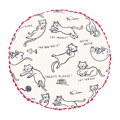 """C&F Home 20"""" x 20"""" Cat Person Pillow"""