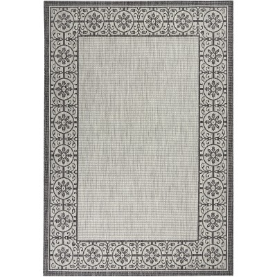 Nourison Garden Party Charcoal Indoor/Outdoor Area Rug GRD03