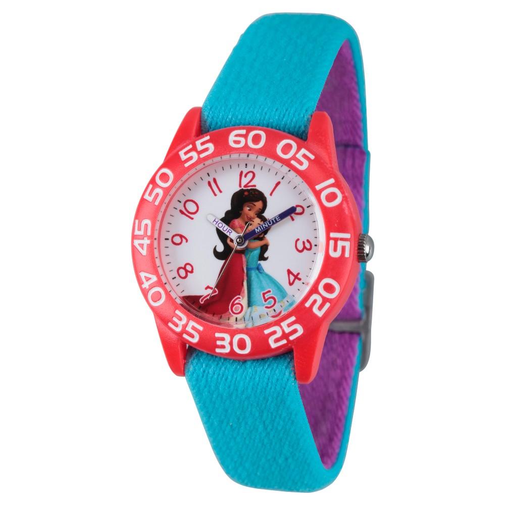 Girls' Disney Elena of Avalor Red Plastic Time Teacher Watch - Blue