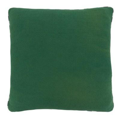 Check Piping Poly Filled Throw Pillow Green - Saro Lifestyle