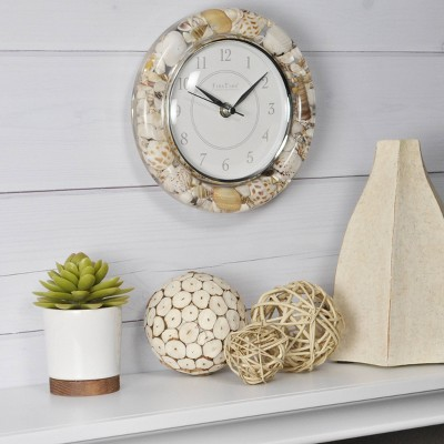 Firstime & Co. Clear Seashells Wall Clock