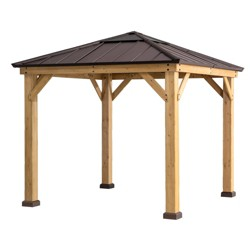 4-Sided Steel Top Outdoor Gazebo - Sunjoy