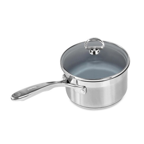 Chantal Induction 21 Steel 2qt Stainless Steel Saucepan with Ceramic Coating and Glass Lid - image 1 of 2