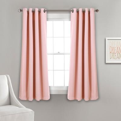 Insulated Grommet Blackout Curtain Panels Pink Pair Set 52 X63  - Lush Decor