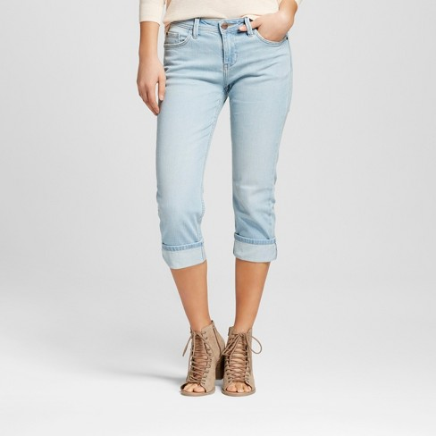 Women's Aberdeen Straight Roll Cuff Capri Jeans - Crafted by Lee® - image 1 of 6