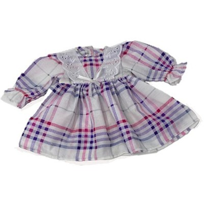 Doll Clothes Superstore Pink And Purple Print Dress With Lace Trim Fits 15-16 Inch Baby Dolls