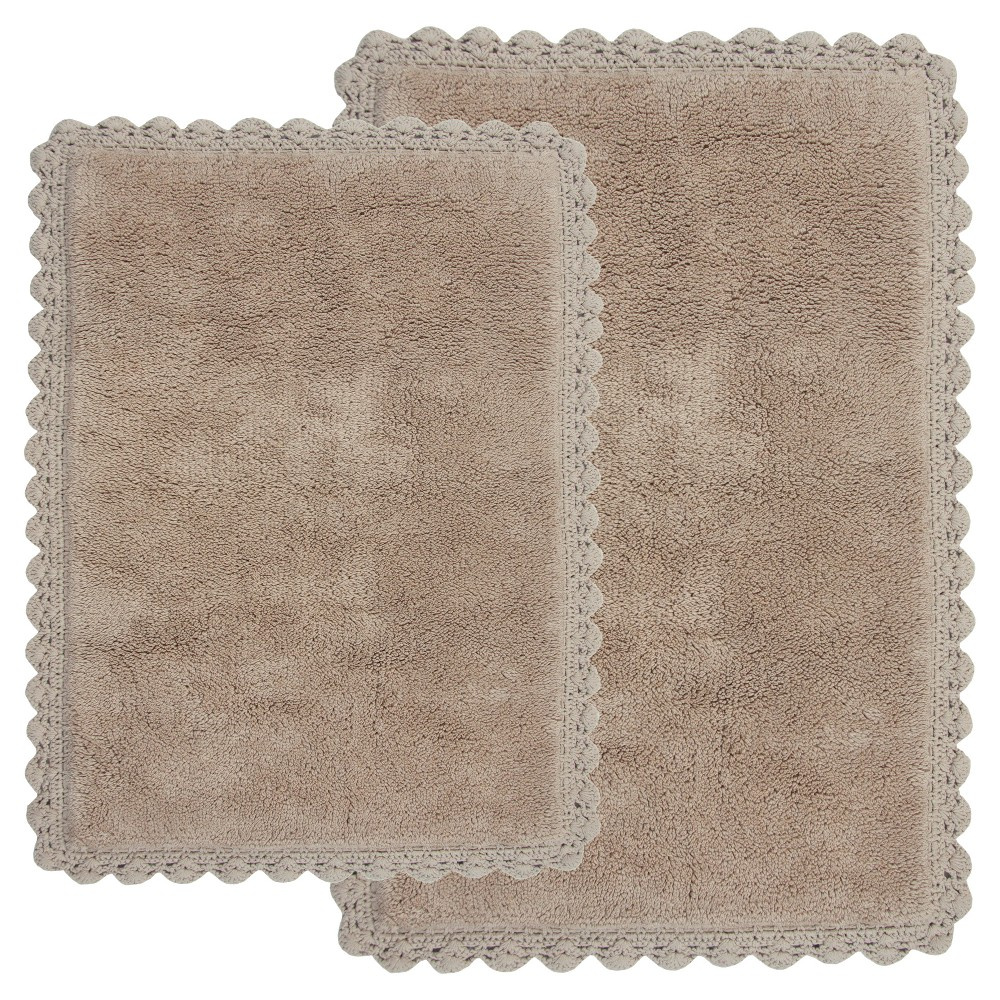 Image of Crochet 2 - Pc. Bath Rug Set Linen - Chesapeake Merch Inc.