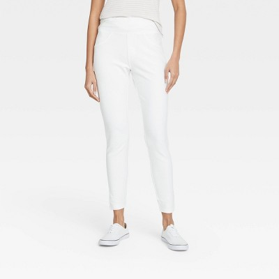 Women's High-Waist Jeggings - A New Day™ White