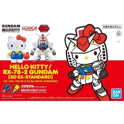 Bandai SD Ex-Standard Hello Kitty x RX-78-2 Gundam Figure Model Kit