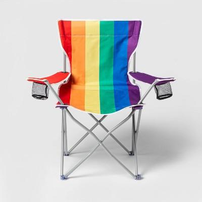 Pride Gender Inclusive Rainbow Striped Parade Chair